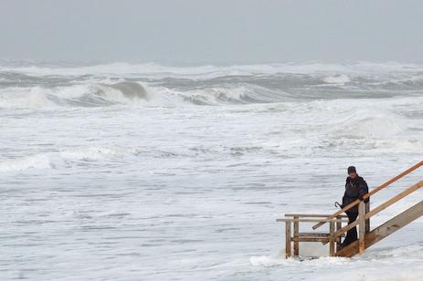 Sylt: Orkan Resi sorgt für Land unter.
