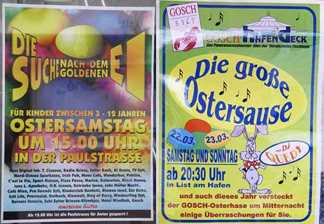 Oster-Veranstaltungen auf Sylt