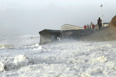 Brandenburger Strand bei Sturmflut (Orkan Emma)