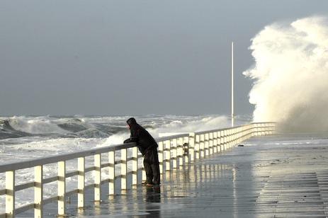 Meterhohe Wellen vor Sylt