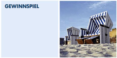 Sylt Nordsee Gewinnspiel mit Strandkorb