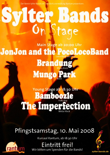Sylter Bands on Stage (Plakat)