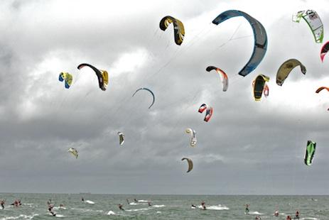 Kites bei der Kitesurf Trophy Sylt 2008