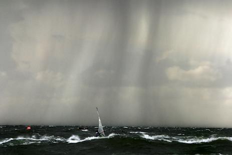 Regengüsse beim Surfcup