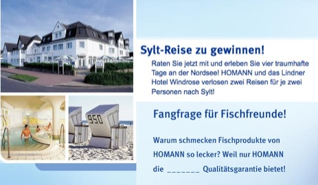 Gewinnspiel der Homann GmbH