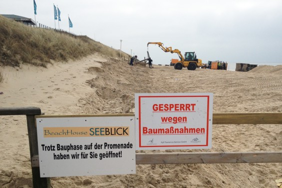 Sanierung der Wandelbahn in Westerland