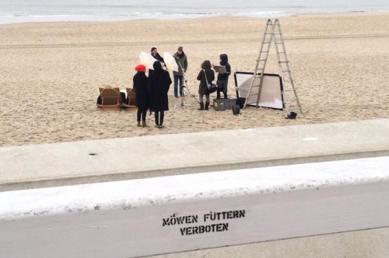 Fotoshooting am Strand von Westerland auf Sylt.
