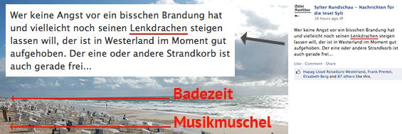 Lenkdrachenverbot am Strand von Sylt